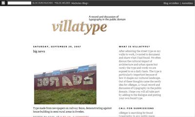 BlogCacy: Villatype