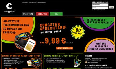 congstar website