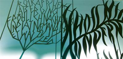 Abbildung: typografischer Märchenwald