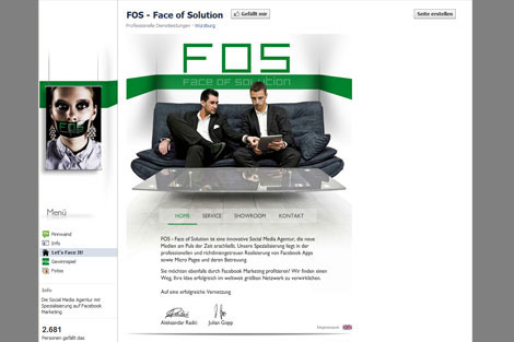 Screenshot Facebook FOS - Face of Solution