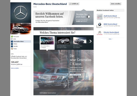 Screenshot Facebook Mercedes-Benz