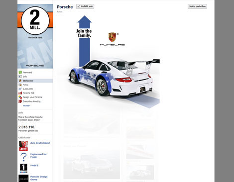 Screenshot Facebook Porsche