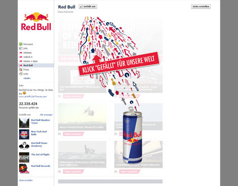 Screenshot Facebook Red Bull