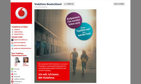 Screenshot Facebook Vodafone