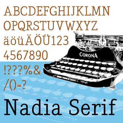 freefont nadia serif stefano picco blog. Black Bedroom Furniture Sets. Home Design Ideas