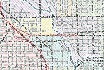 Chicago typografische Karte 2