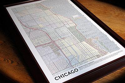 Chicago typografische Karte
