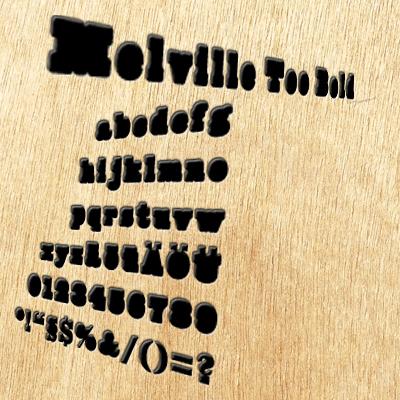 Grafik: FreeFont Melville Too Bold