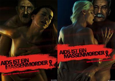 Grafik: Aids ist ein Massenmörder Plakate