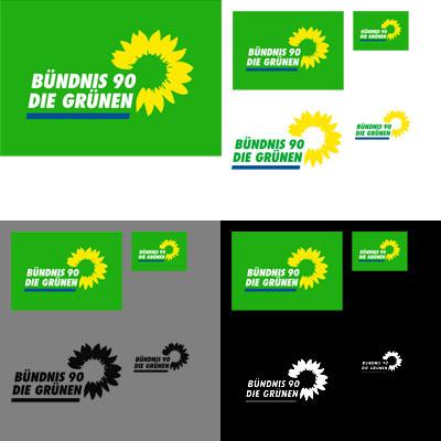 Grafik: Logos Bündnis 90 die Grünen