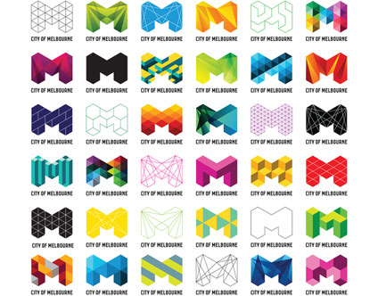Grafik: neue Logos für die Stadt Melbourne