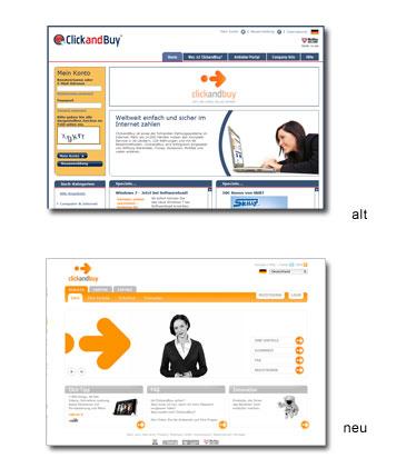 ClickandBuy Web-Design