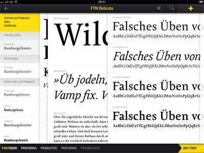 FontBook iPad App