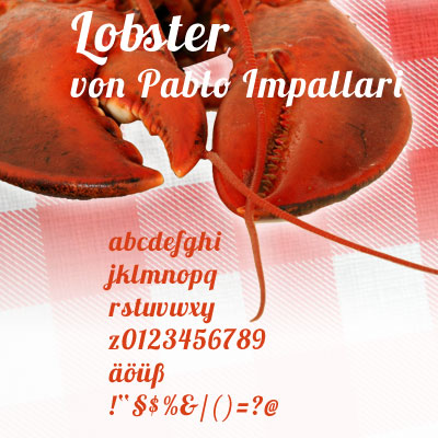 Grafik: FreeFont Lobster
