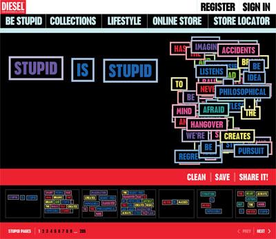 Grafik: Diesel Homepage