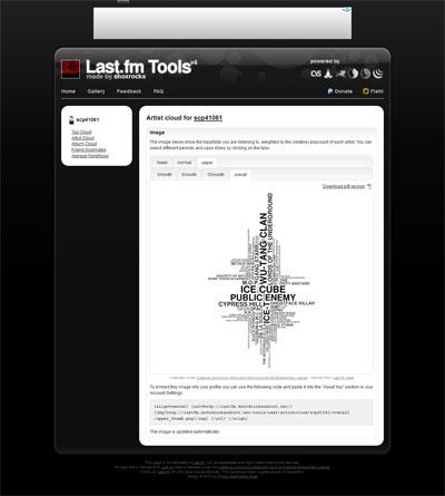 Last.fm tools scp41061 Charts