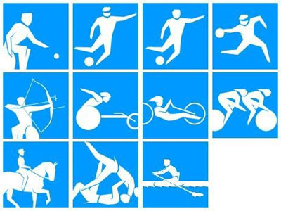 Grafik: London 2010 Paralympics Piktogramme 1