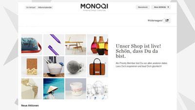 Grafik: MONOQI Homepage