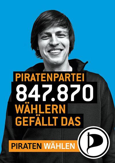 Piratenpartei - 847.870 wählern gefällt das