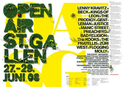 Grafik: Poster St. Gallen OpenAir