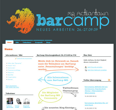 Grafik: Screenshot barcampmg