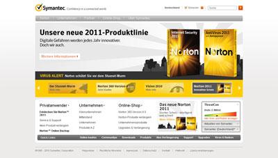 Symantec Homepage