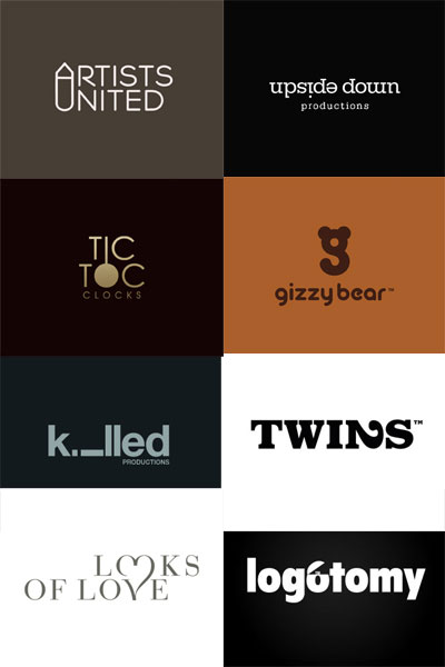 Grafik: typografische Logos