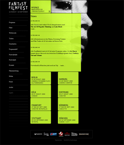 Grafik: Homepage Fantasy Filmfest 2008