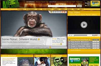 Homepage: Animal Planet