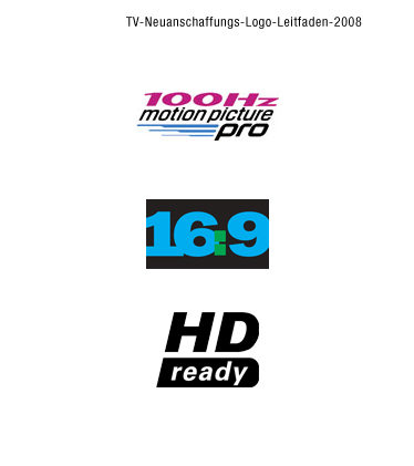 Logos: 100 Hz 16:9 HD Ready