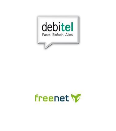 Logos: debitel freenet