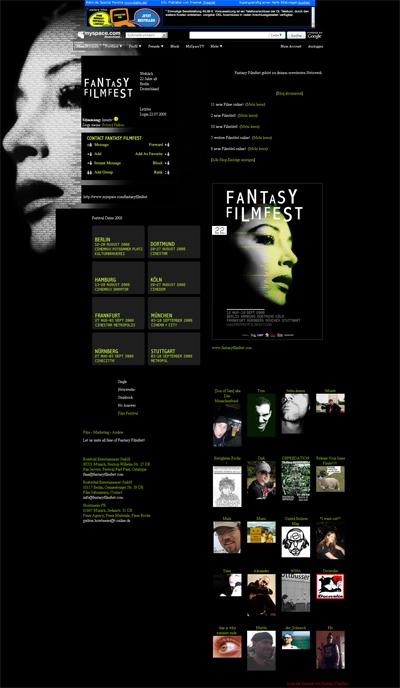 Grafik: MySpace Fantasy Filmfest