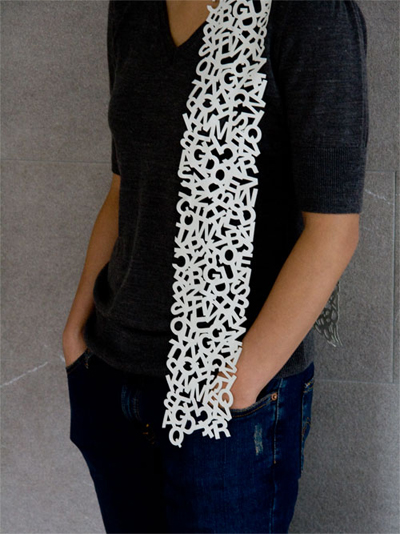 Photo: Little Factory Uppercase Scarf