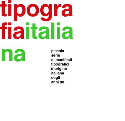 Plakat: tipografia italiana
