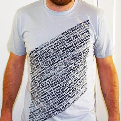 Produkt: Sans-Serif T-Shirt von Turn Noctural