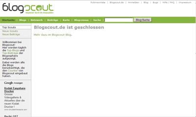 blogscout.de closed